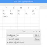 Qtプログラミング – スプレッドシート検索機能実装